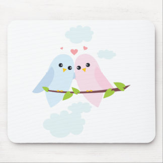 Valentine Love Birds Mouse Pad
