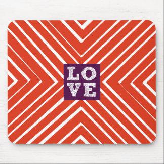 Valentine LOVE Bullseye Mouse Pad