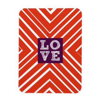 Valentine LOVE Bullseye Rectangular Photo Magnet