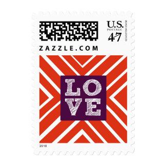 Valentine LOVE Bullseye Stamp