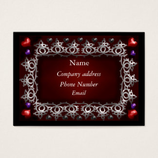 valentine love business card
