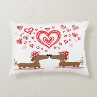 Valentine Love Dachshunds Pillow