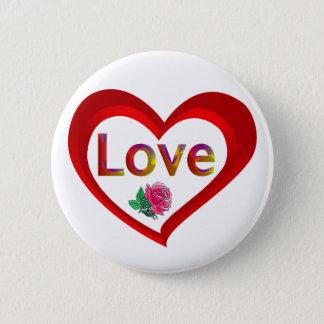 Valentine Love Heart Button