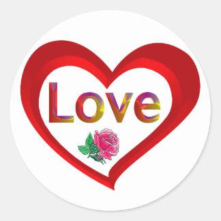 Valentine Love Heart Stickers