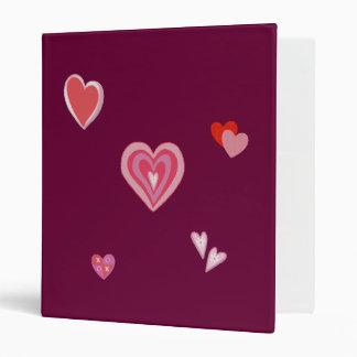 Valentine Love Hearts 3 Ring Binder