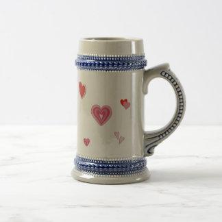 Valentine Love Hearts Beer Stein