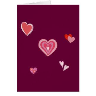 Valentine Love Hearts Card