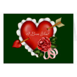 Valentine Love Hearts Greeting Card