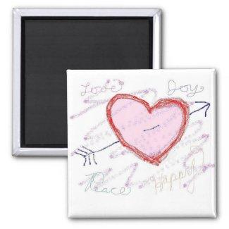 Valentine Love Hearts Magnet