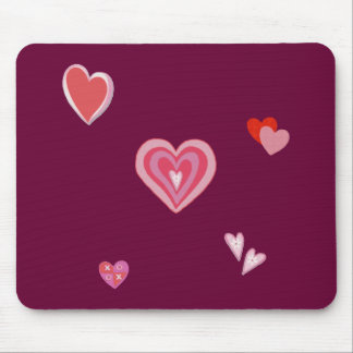 Valentine Love Hearts Mouse Pad