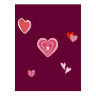 Valentine Love Hearts Postcard