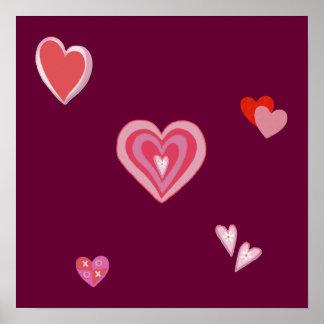 Valentine Love Hearts Poster
