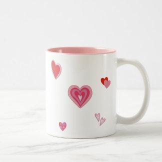 Valentine Love Hearts Two-Tone Coffee Mug