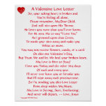 Valentine Love Letter Poster
