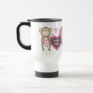 Valentine Love Monkey Custom Photo & Text Mug
