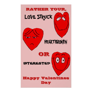 VALENTINE LOVE MOODS poster