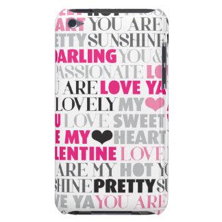 Valentine love pattern ipod case
