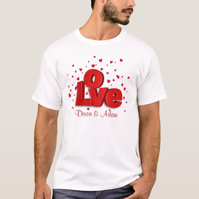 Valentine LOVE Personalized T-shirt