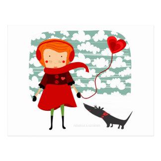 Valentine love postcard