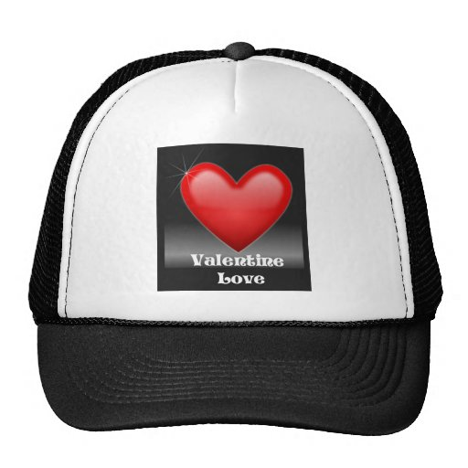 Valentine Love Red Heart Hat