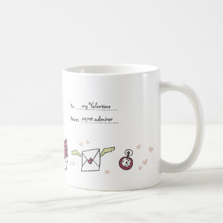 Valentine love to letter flying envelope with wing coffee mug