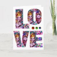 VALENTINE LOVE VENETIAN MASQUERADE GREETING CARDS