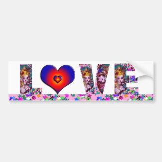 VALENTINE LOVE  VENETIAN MASQUERADE PARTY CAR BUMPER STICKER