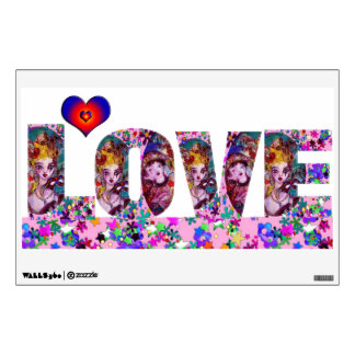 VALENTINE LOVE  VENETIAN MASQUERADE WALL DECAL