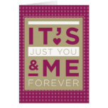 Valentine Love You & Me Forever Purple Greeting Card