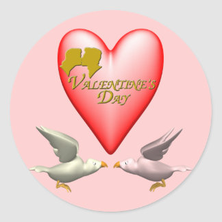 Valentine Lovers T-shirts and Gifts Round Sticker