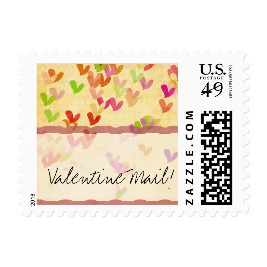 Valentine Mail Usps Heart Stamp Zazzle