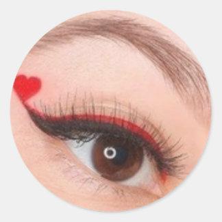 valentine makeup classic round sticker