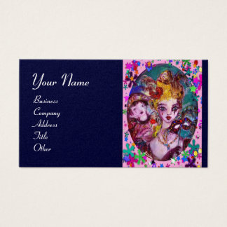 VALENTINE MASQUERADE MASKS ,CONFETTI,pink blue Business Card