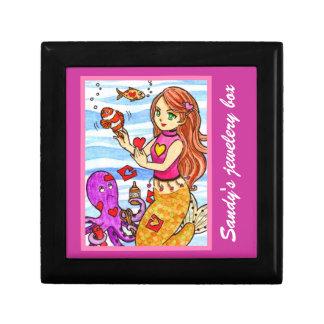 Valentine mermaid gift box