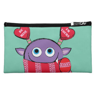 Valentine Monster with Scarf Cosmetic Bag