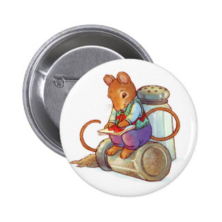 Valentine Mouse Love Note Button