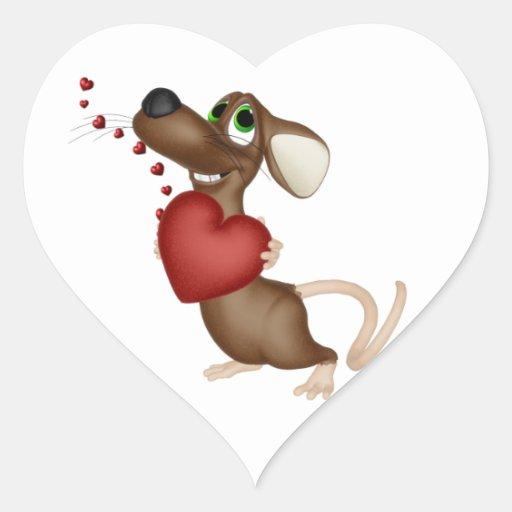 Valentine Mouse sticker