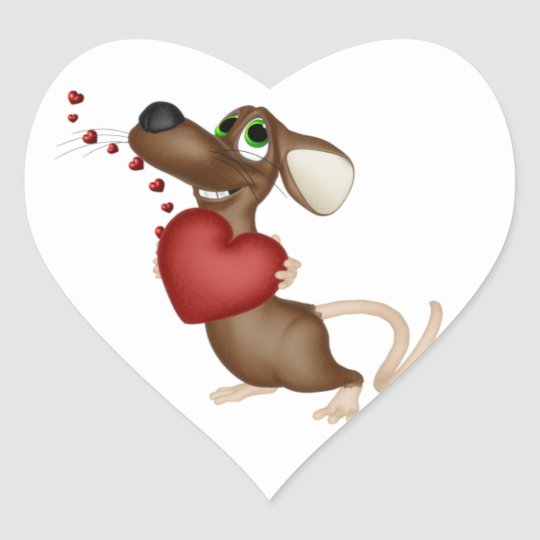 Valentine Mouse sticker