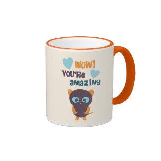 Valentine Mug, Cat Heart Retro Cute Love Quote