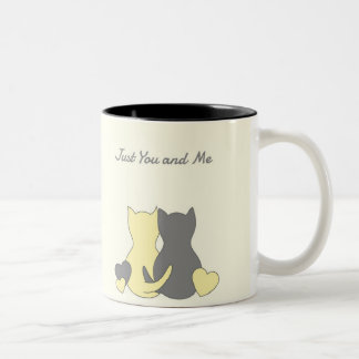 Valentine Mug, Cute Cats, Love, Heart, Love Quote Two-Tone Coffee Mug