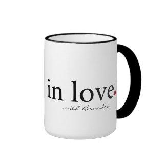 Valentine Mug, Personalized Valentine Gift Ringer Mug