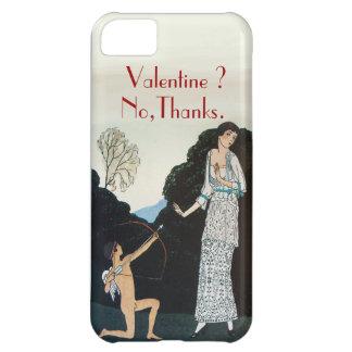VALENTINE ? NO,THANKS /RETRO ANTI VALENTINE'S DAY COVER FOR iPhone 5C