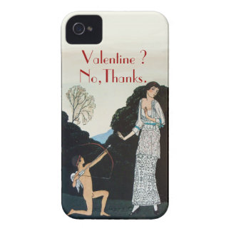 VALENTINE ? NO,THANKS /RETRO ANTI VALENTINE'S DAY iPhone 4 CASE