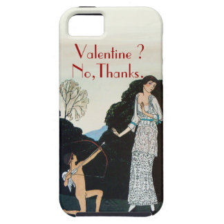 VALENTINE ? NO,THANKS /RETRO ANTI VALENTINE'S DAY iPhone SE/5/5s CASE