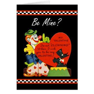 Valentine Not Clowing Around Scottish Terrier Card