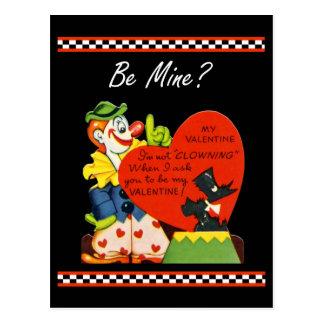 Valentine Not Clowing Around Scottish Terrier Postcard