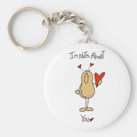 Valentine Nuts About You Keychain