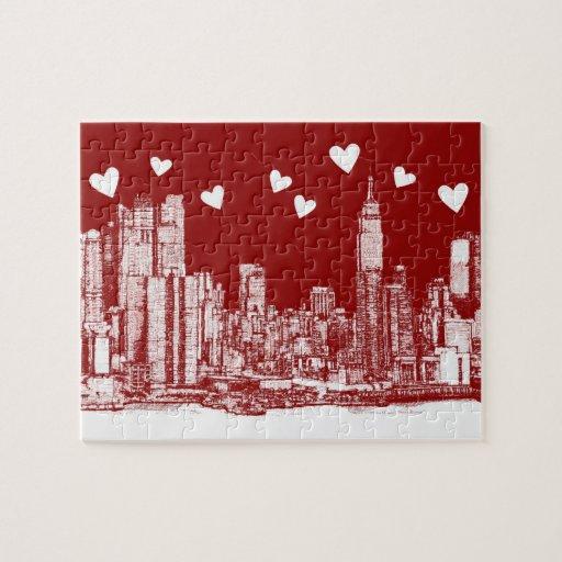 valentine NYC skyline Jigsaw Puzzle