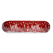 valentine NYC skyline Skateboard Deck