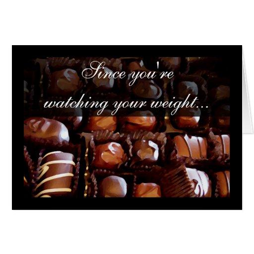 Valentine on a Diet, Valentines Day Greeting Card